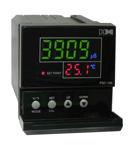 Tds Controller - HM Digital PSC-154 TDS/EC Controller with 4-20mA Output, 0-9999 µS Measurement Range, 0.1 µS/ppm Resolution, +/-2% Readout Accuracy