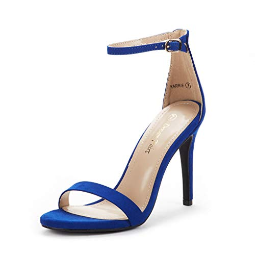 DREAM PAIRS Women's Karrie Royal Blue High Stiletto Pump Heel Sandals Size 7.5 B(M) US