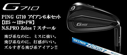 PING(ピン) G710 アイアン6本セット [番手:I#5~I#9+PW] N.S.PRO ZELOS 7 スチールシャフト メンズゴルフクラブ 右利き用