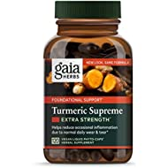 Gaia Herbs, Turmeric Supreme Extra Strength, Turmeric Curcumin Supplement with Black Pepper, Daily Joint Support & Healthy Inflammatory Response, Vegan Liquid Capsules, 120 Count (packaging may vary)