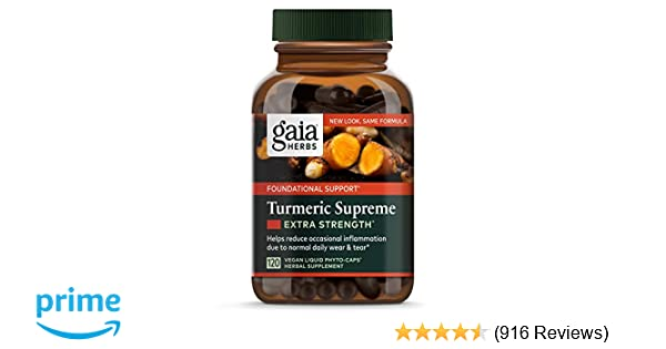 Com Gaia Herbs Turmeric Supreme Extra Strength Vegan Liquid Capsules 120 Count Curin Supplement With Black Pepper