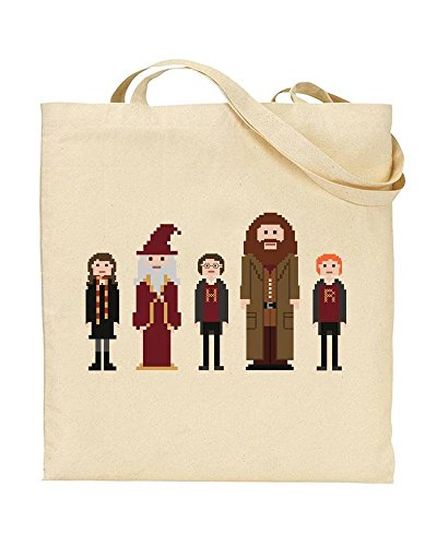 Harry Pixel Novelty Dumbledore Ron Bag Handbag TOTE Shopping by TeeDemon® Hermione Characters Hagrid Gift HP wUxaqBII