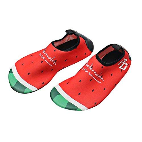 de Chaussures Chaussures Chaussures de enfants plage Indoor douce sport Chaussures d'eau Pastèque Sock dqtZ1x