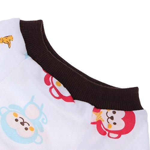 Animaux Pyjamas Chien Vêtements Manteau Chiot Salopette Habillement Bande Dessinée Nuit Robe Chemise Rose Fraise Xs Singe Xl Brun