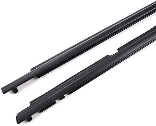 G-PLUS 4PCS Weatherstrip Window Moulding Trim Seal Belt for Toyota Corolla 2009 2010 2011 2012 Weatherproof Black Outside Trim Seal Belt