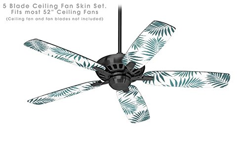 Palm Ceiling Fan Blade Covers (Palms 02 Green - Ceiling Fan Skin Kit fits most 52 inch fans (FAN and BLADES NOT INCLUDED))