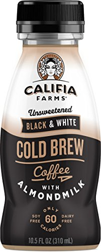 Farm White - Califia Farms Cold Brew Coffee with Almondmilk, Dairy Free, Plant Milk, Vegan, Non-GMO, Black & White, 10.5 Oz (Pack of 12)