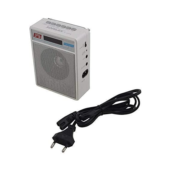 Ae zone Sonilex Portable Rechargeable SL-413/414 FM Player with USB, SD Card Slot (White)