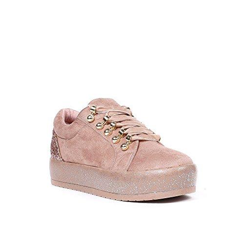 Shoes Lacets avec Ideal Baskets Rosela Daim Velours Effet Basses 4PxPvwdA