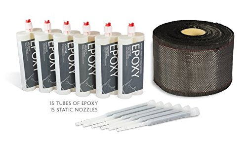 Bowing Wall Kit - 5.5'' Carbon Fiber - 164' Roll Kit with Epoxy Adhesive