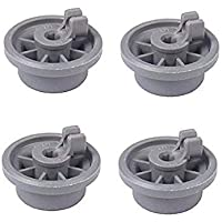 165314 dishwasher lower rack wheel replacement for bosch kenmore dishwasher parts replaces 420198 423232 by AUKO (Pack of 4)