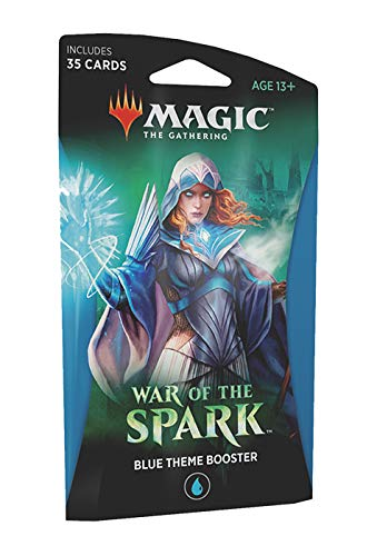- Magic The Gathering: War of The Spark - Theme Booster Pack - Blue