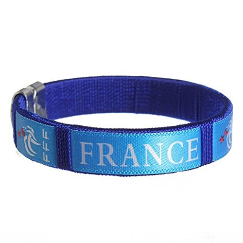 Fifa Worldcup Embroidery Bracelets with Logo of France National Football Team a Pair (Team Bracelet Logo)