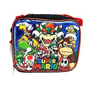 Super Mario 3D Bros Insulated Lunch Box Bag Licensed Nintendo Luigi New Authentic