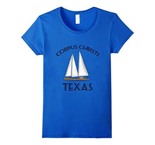 Womens Corpus Christi Texas Sailing Sailboat T-Shirt Small Royal - Christi Corpus Women