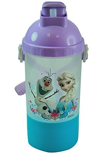 Disney Frozen Food Containers and Snack Boxes (Rock N Sip N Snack Canteen Water Bottle)