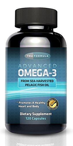 Omega-3 d'huile de poisson - 120ct - Acides gras essentiels marin récolté pélagique avec l'EPA et le DHA