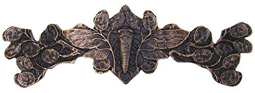 Notting Hill Decorative Hardware Cicada on Leaves Pull, Dark Solid Bronze