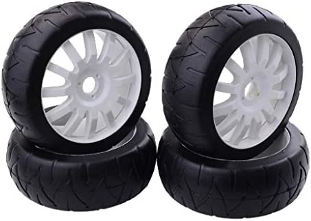 ゴムタイヤ ホイールヘックス RCカータイヤ スペアパーツ 1/8 RCフラットランニングカー用