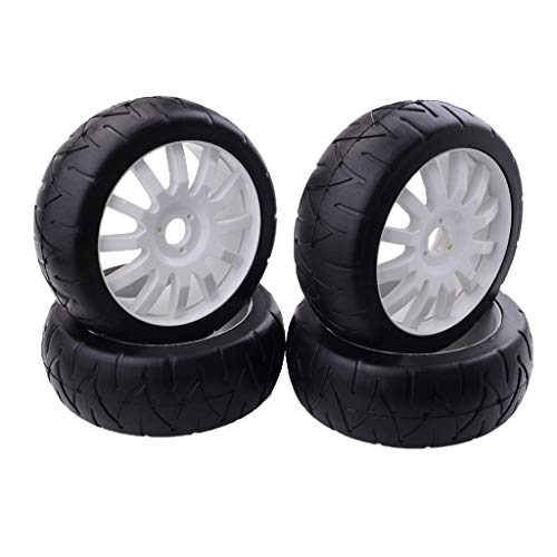 Flameer 1:8 Electric 4WD RC Buggy Parts Wheel Tyre Tyres Rubber 80mm Diameter - Buggy Tires Model Rc