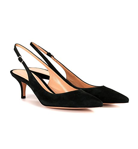 36d4db3f9bf ... Sammitop Women s Pointed Toe Slingback Shoes Kitten Heel Pumps Pumps  Pumps Comfortable Dress Shoes B07DFFLCD9 6.5