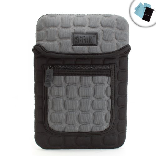 """USA Gear FlexARMOR X Protective Tablet Sleeve Carrying Case for DragonTouch , SuperSonic , Polaroid , Maylong , AllWinner , Kocaso , Mach Speed , Visual Land & More 7"""" Android Tablets Bonus Cleaning Cloth + Accessory Bag"""