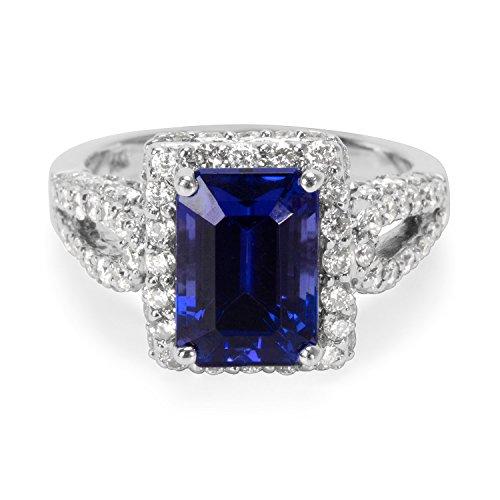 BRAND NEW Tanzanite & Diamond Gemstone Ring in 14k White Gold (1.44 CTW) by Dehago