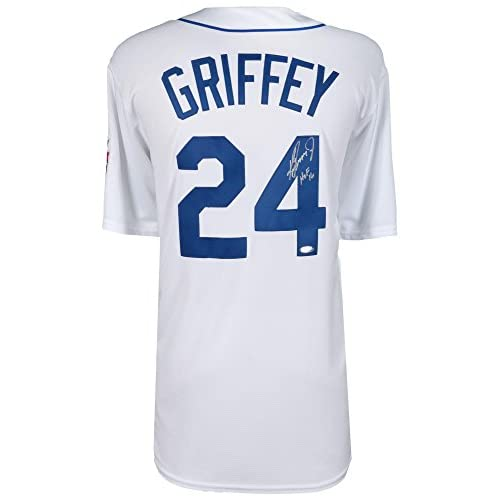 buy online be114 5c391 Ken Griffey Jr. Seattle Mariners Autographed White 1989 ...