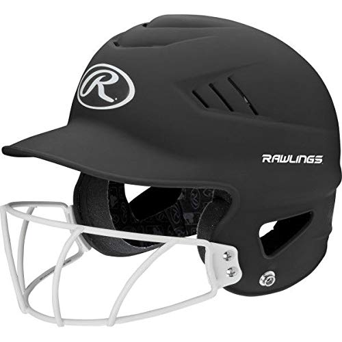 - Rawlings Sporting Goods Highlighter Series Softball Helmet, Matte Black