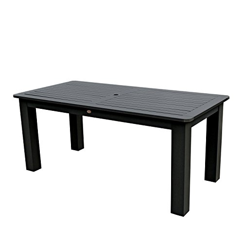 Highwood Lehigh and Weatherly Rectangular Counter Height Table, 37 by 72-Inch, Black Review