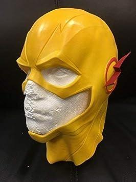 Wrestling Amarillo - Halloween Látex Cosplay Cabeza Completa Casco Máscara - Universal Talla inversa Flash Carnaval
