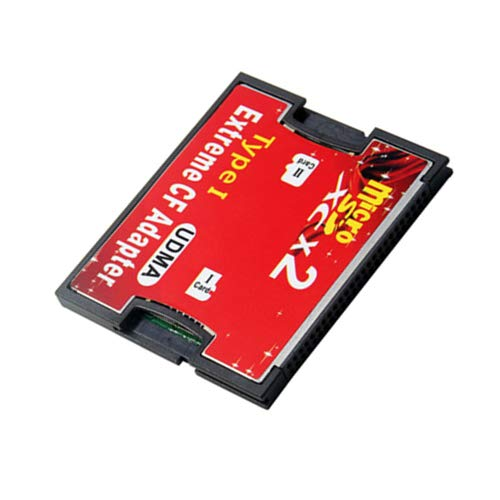 - Dual Port Slot TF Micro SD SDHC to Type I Compact Flash Card CF Reader Adapter for Nikon Cannon Camera (Dual TF port-CF Adapter)