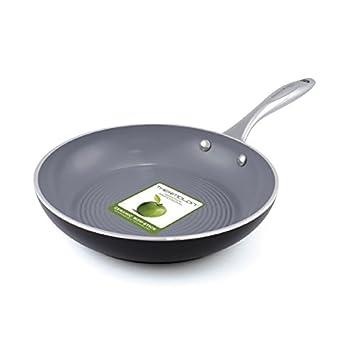 GreenPan - Sartén antiadherente (aluminio superficie ondulada Milan 3d 24 cm - CW000183 - 009: Amazon.es: Hogar