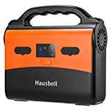 Cheap Hausbell Portable Power Station, 155Wh 42000mAh Camping Generator Power Inverter Battery, 120V/150W AC Outlet, 2 USB Outputs, Solar Generator for Camping, Emergency, Traveling