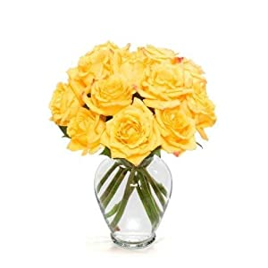 IPOPU 10 Pcs Romantic Real Touch Artificial False Latex Silk Blooming Roses Bouquet Floral Leaf for Home Wedding Party Garden Bridal Hydrangea Decorations DIY, Yellow 5