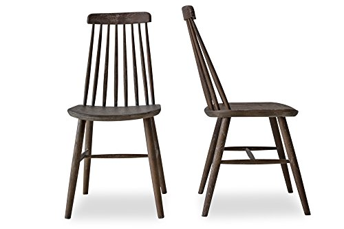 Spindle Back Windsor Chair (CLEO - Modern Farmhouse Dining Chairs - Spindle Back Solid Oak Wood Windsor Chairs - Set of 2)