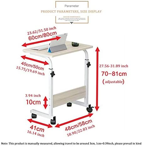 YLYWCG Tavolino Carrello con Ruote Tavolino Porta PC
