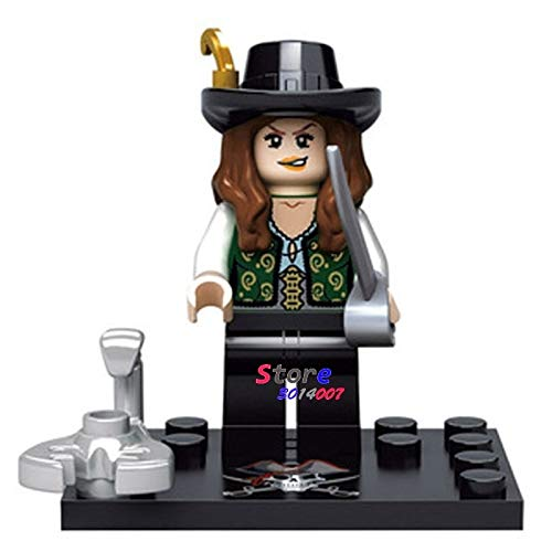 50pcs Pirates of The Caribbean Monsters Series Halloween Zombie Pirate Shark Figure Building Block Bricks for House Children Toy -