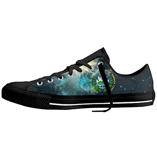 El Salvador Coat Of Arms Unisex Classic Canvas Lace Up Shoes Sneakers For Men & Women by Coallw (Image #2)