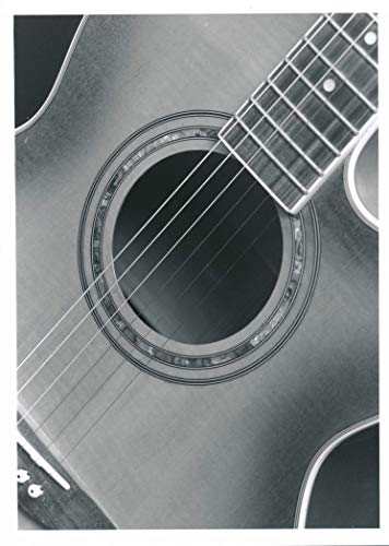 5x7 Black and White Photo of Acoustic Guitar - Limited Edition Handmade Silver Gelatin Print
