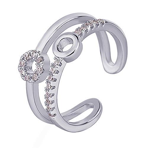- Women Creative Fashion Opening Size Adjustable Diamond Tail Ring