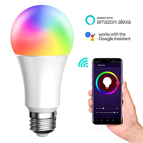 BellFan Smart WiFi LED Light, E27 8W Smart Bulb No Hub Required, Compatible with Amazon Alexa and Google Assistant, Adjustable and Dimmable Household Light Bulb(White,1pack)