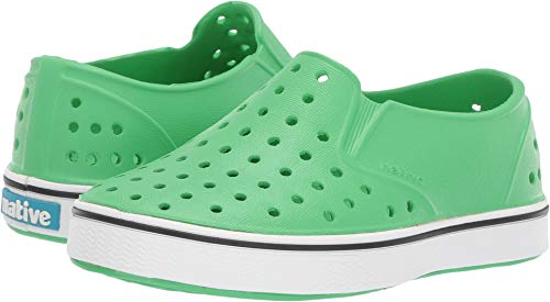 Native Kids Shoes Unisex Miles Slip-On (Toddler/Little Kid) Grasshopper Green/Shell White 6 M US Toddler