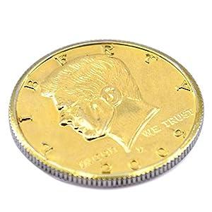 Double Sided Coin 2-headed Half Dollar Coin Tail & Face Magic Tricks