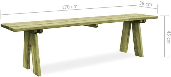 Festnight Panca per Esterni Panca da Giardino 140x38x45 cm in Legno FSC