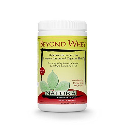 Beyond Whey Grass Fed Whey Protein Concentrate by Natura Health Products - GMO, Hormone, Gluten Free - Natural Maximum Recovery with Creatine, Magnesium, and Glutamine - 300 Grams (10.6 Ounces) Powder