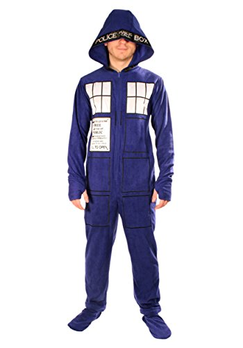 Doctor Who: Adult Tardis Pajamas 2X-Large (Halloween Costumes Dr Who)