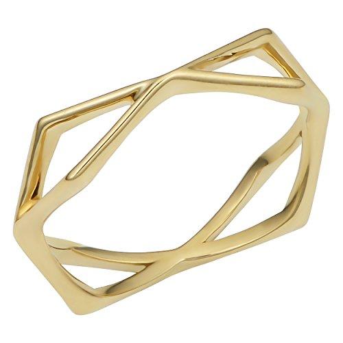 - Kooljewelry 14k Yellow Gold Geometric Ring (size 8)