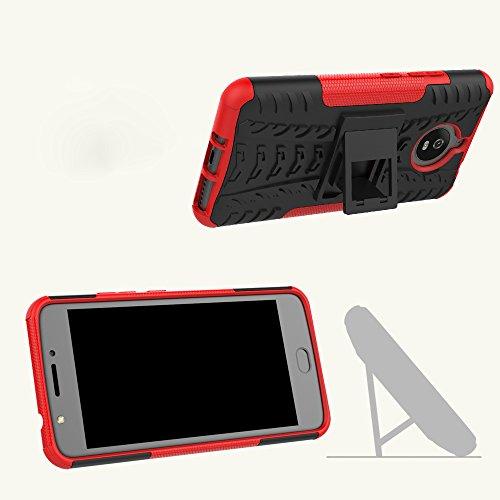 OFU®Para MOTO E4 plus Funda, Híbrido caja de la armadura para el teléfono MOTO E4 plus resistente a prueba de golpes contra la lucha de viaje accesorios esenciales del teléfono-verde verde