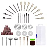 43pcs Wood Carving Kit for Rotary Tool – GOXAWEE Power Tool Accessory Combo Set Universal Fitment for Wood and Plastic, Versatile Drill Bit Cutting Disc Buffering Wheel for Engraving, Sanding For Sale